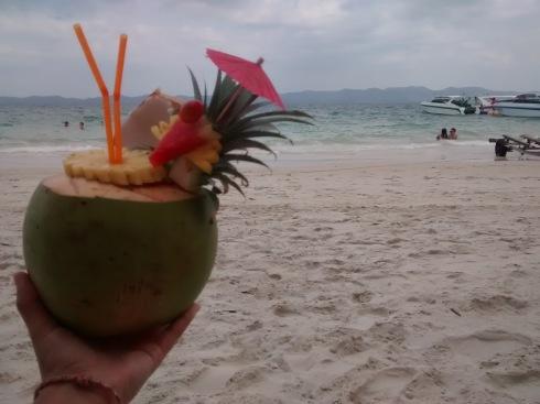 Piña Colada on the beach