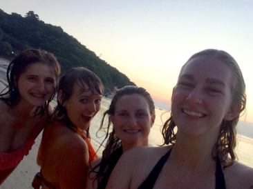 Koh Samet beach sunset selfie