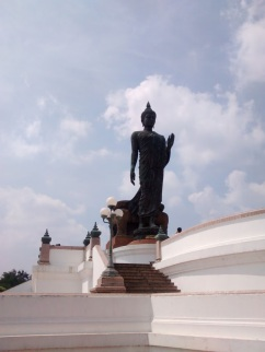 The famous statue of Buddha, at the center of the park