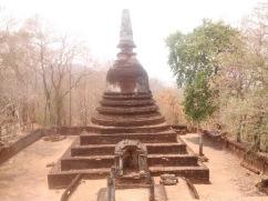 A smaller stupa taken from the main stupa