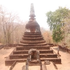 A smaller stupa taken from the main stupa