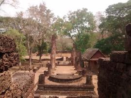 Wat Nang Paya from inside the stupa