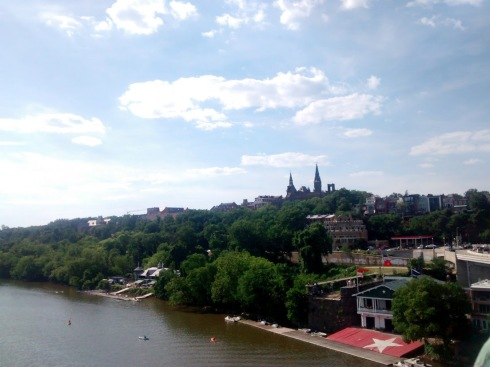 Georgetown from the Francis Scott Key Bridge