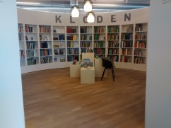 """Loved this circular reading area in the center of the library. Upon further investigation, Google Translate tells me """"Kloden"""" is Danish for """"Globe"""""""
