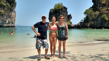 Krabi, Thailand with my Mom and Dad--April, 2016