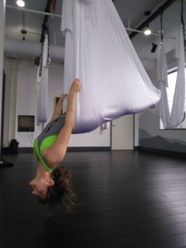 Aerial yoga became a new obsession this year